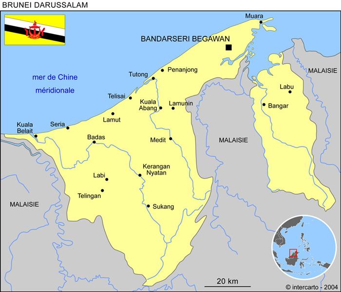Carte Brunei
