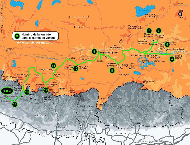 Itinéraire voyage 2 semaines au Tibet
