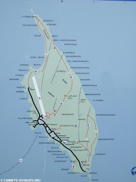 Plan ile Grimsey Islande
