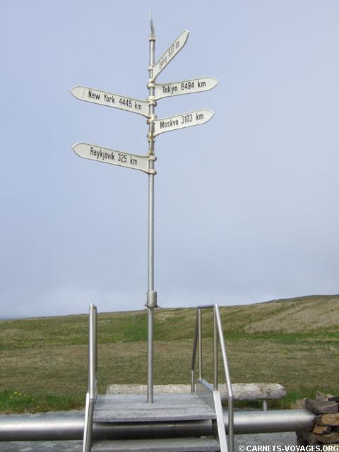 Monument cercle polaire arctique Islande