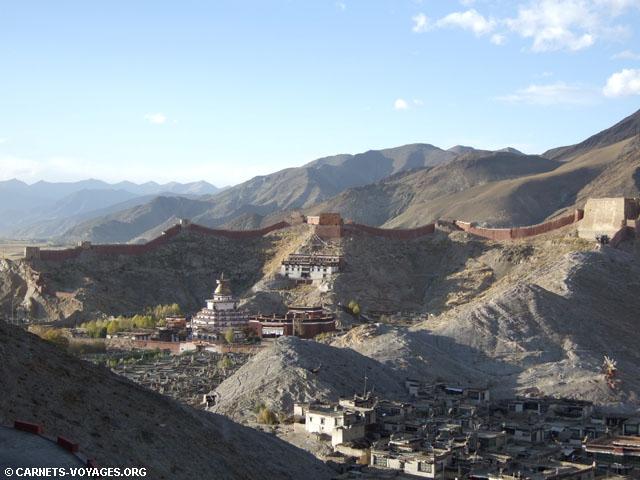 Chörten Kumbum et temple Pelkhor Chodé tibet
