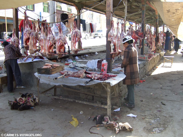 marché Shigatsé Tibet