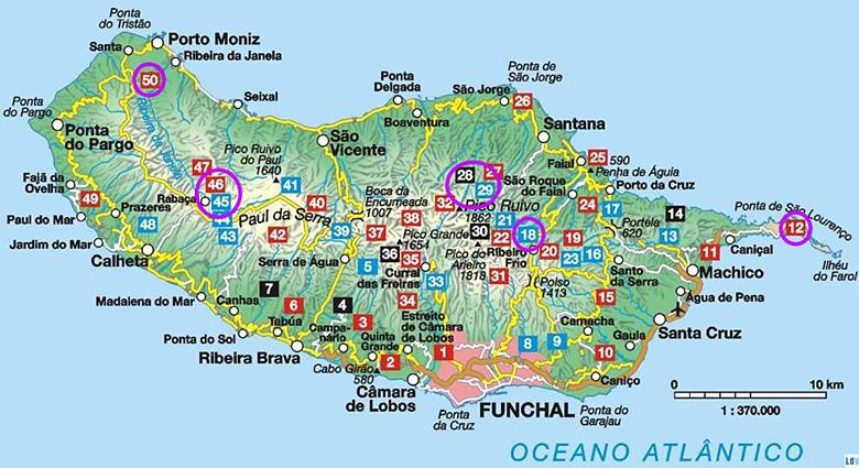 Carte randonnée Madère Rother Guide