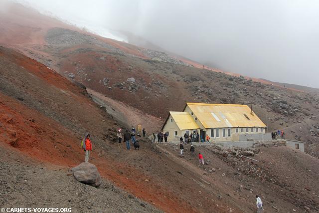 Refuge volcan Cotopaxi Equateur
