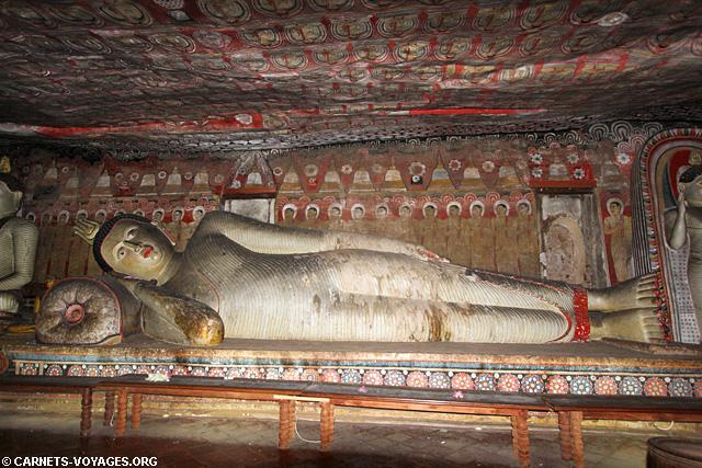 Grottes peintes fresques Dambulla Sri Lanka