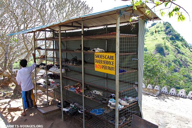 Casier chaussures visite Dambulla