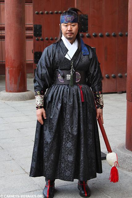 Relève de la garde au palais Palais Deoksugung à Séoul Corée du Sud