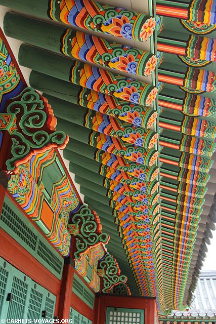 Détail toit Palais Deoksugung Séoul Corée du Sud