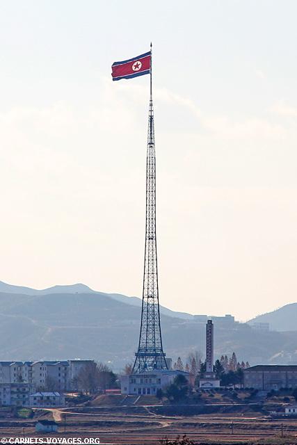 drapeau corée du nord DMZ