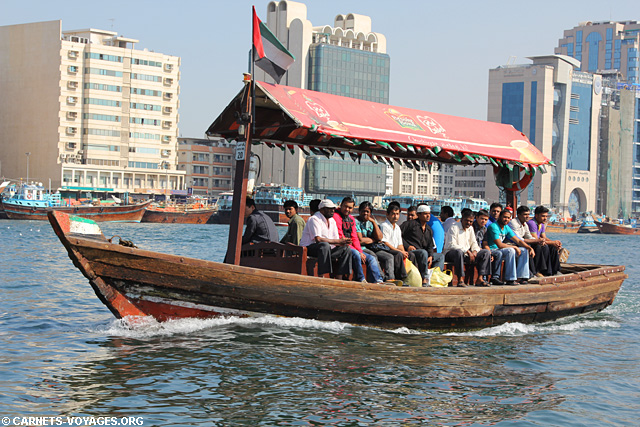 Bateau taxi pour traverser Dubai Creek