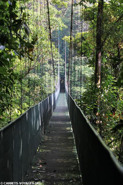 Passerelle Skywalk Monteverde Costa Rica