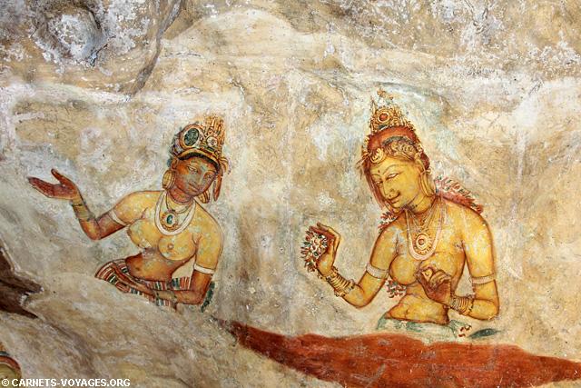Sigiriya Sri Lanka fresques