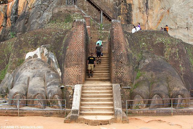 Sigiriya Sri Lanka pattes Lion