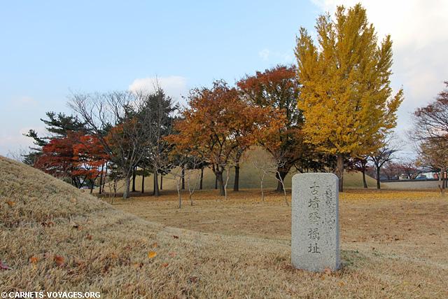 Parc des tumuli Gyeongju Corée du Sud