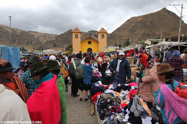 Marché Zumbahua Equateur