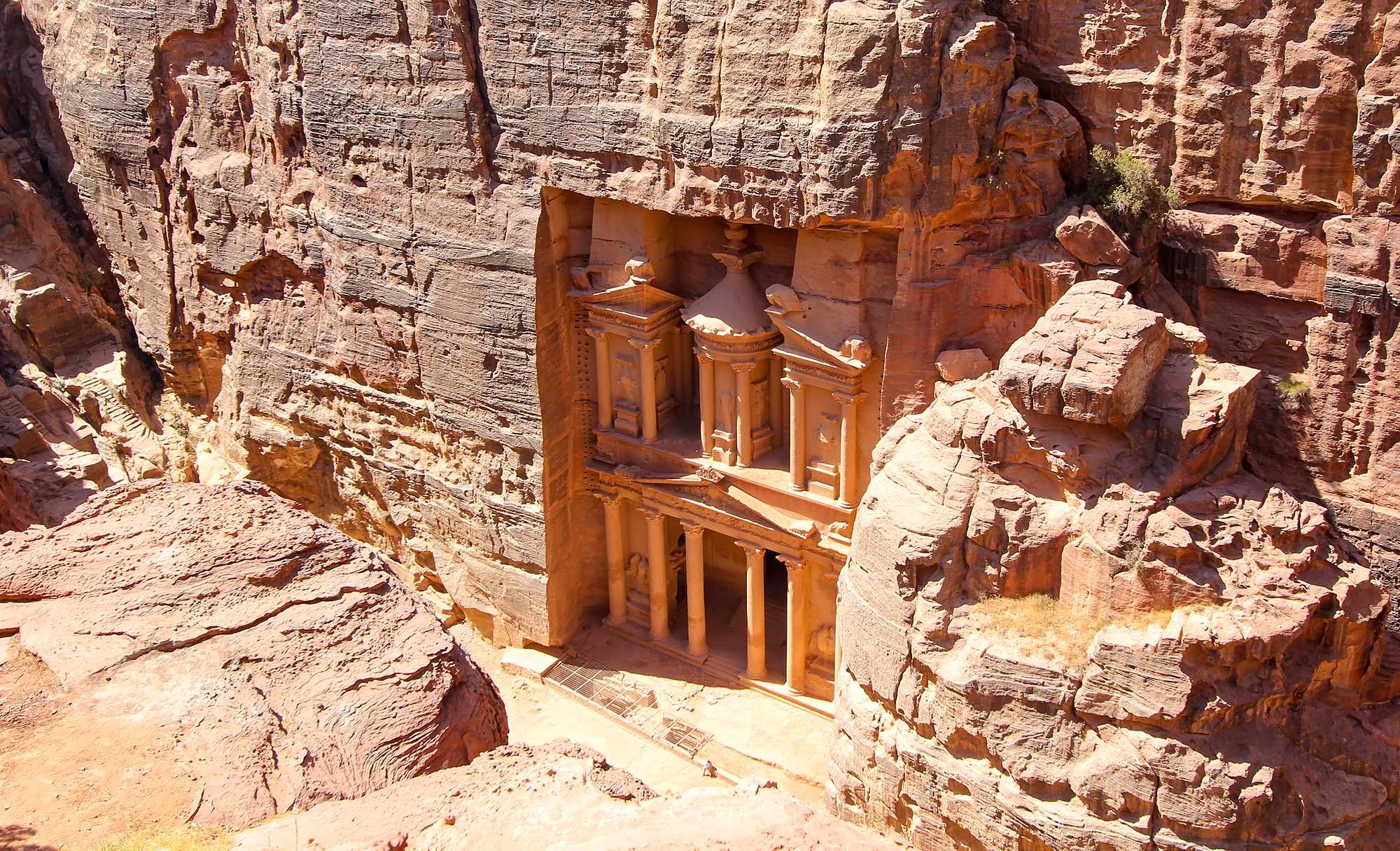 Vue sur le trésor Pétra