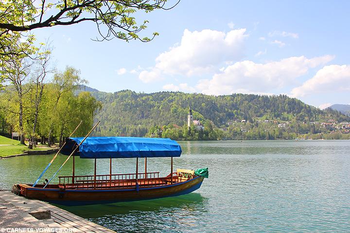 Pletna lac de Bled Slovénie