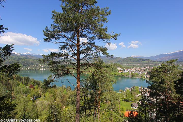 Lac Bled Point de vue de la station de ski Straza Bled Slovénie