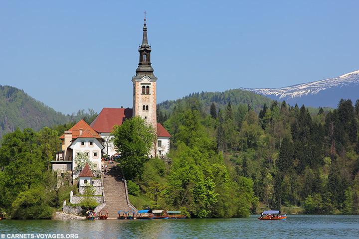 Ile lac de Bled Slovénie