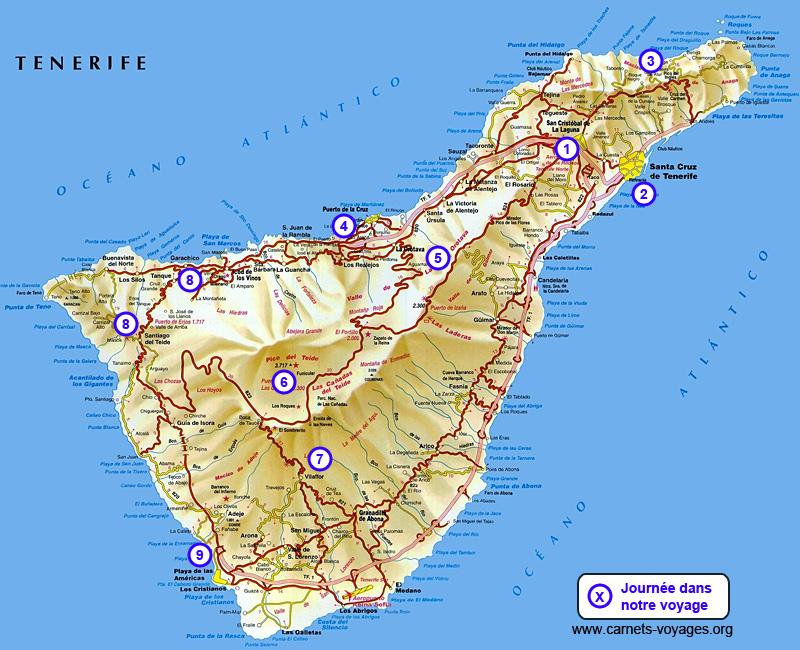 Itinéraire road trip Tenerife