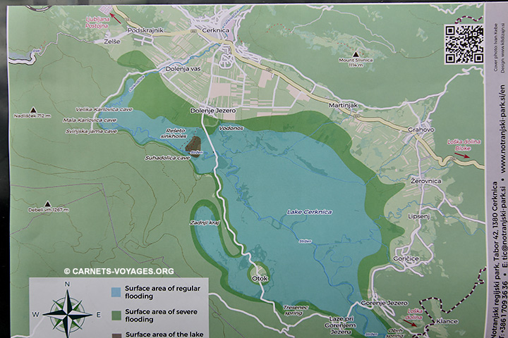 Plan lac Cernika Slovénie