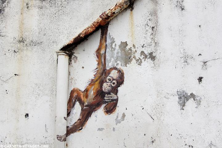 Street Art Kuching voyage à Bornéo Malaisie