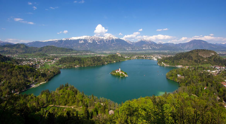 Point de vue Mala Osojnica lac de Bled Slovénie