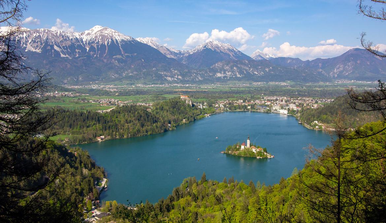 Point de vue Velika Osojnica lac de Bled Slovénie