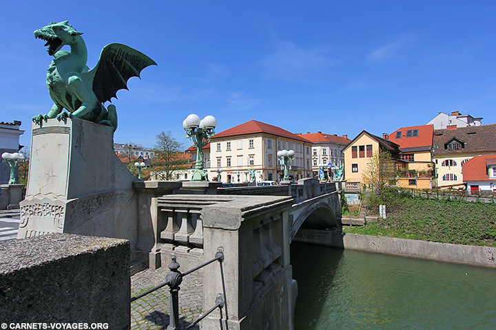 Visiter pont des dragons Ljubljana Slovénie