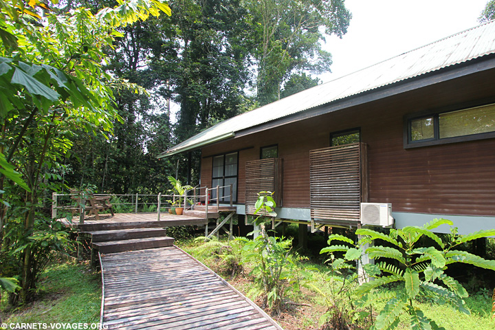 Bungalow Gunung Mulu visiter Bornéo Malaisie