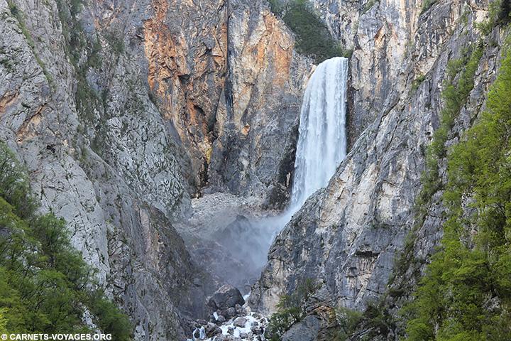 Cascade de la Boka Slovénie