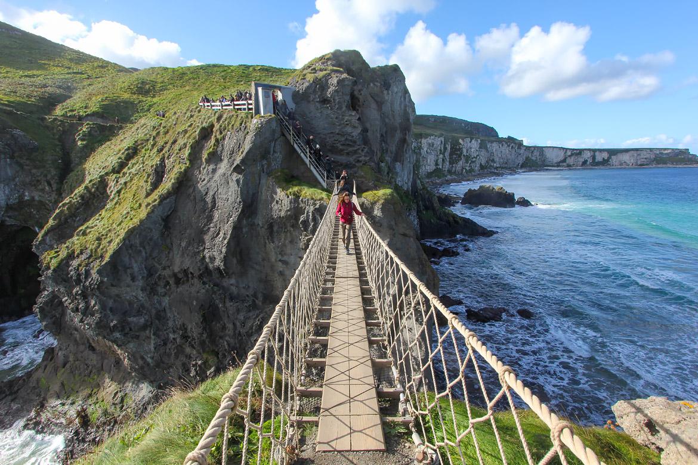 Pont de corde Carrick-a-rede Irlande du Nord
