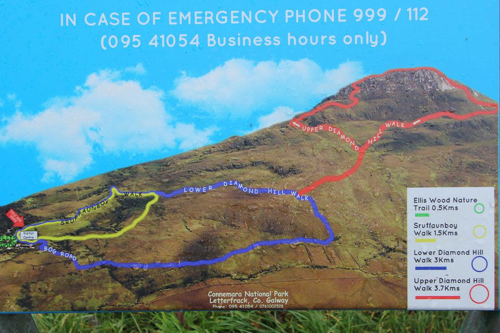 Parc National Connemara plan randonnées Irlande