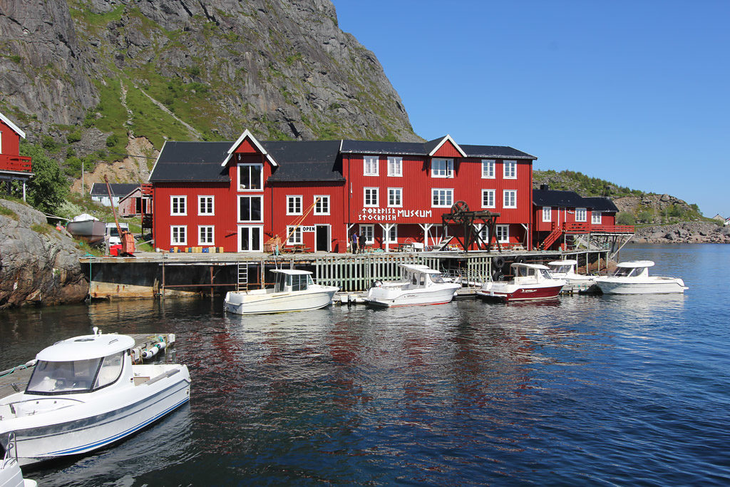 Village rorbu A i Lofoten Norvege