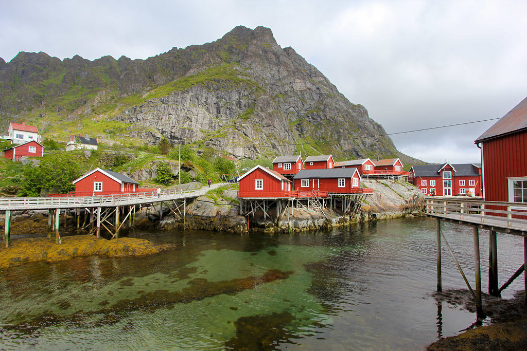 Village A i Lofoten Norvege