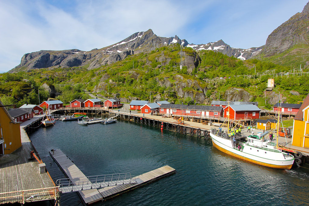 Port rorbu Nusfjord Lofoten