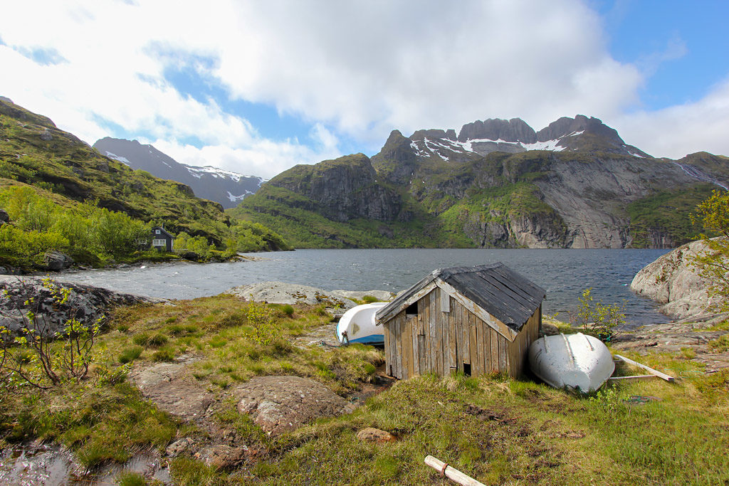 Randonnée lac Trolldalsvatnet Lofoten