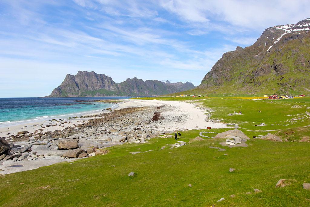 Plage Uttakleiv road trip Lofoten