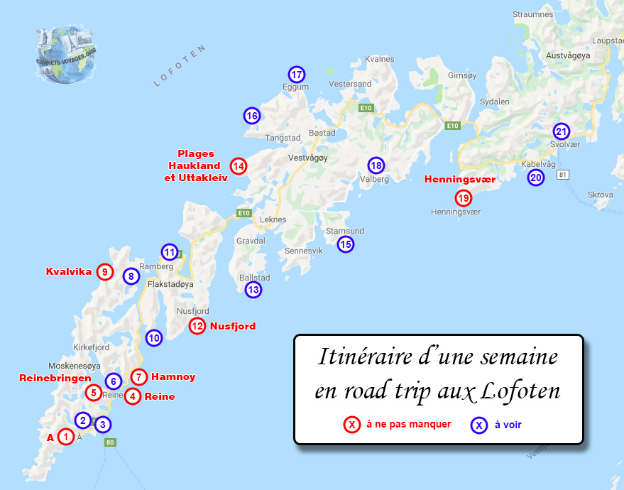 Itinéraire road trip Lofoten