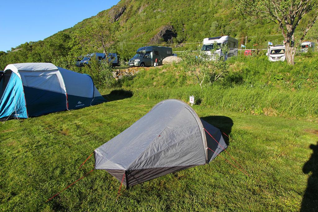 Tente décathlon en Norvège