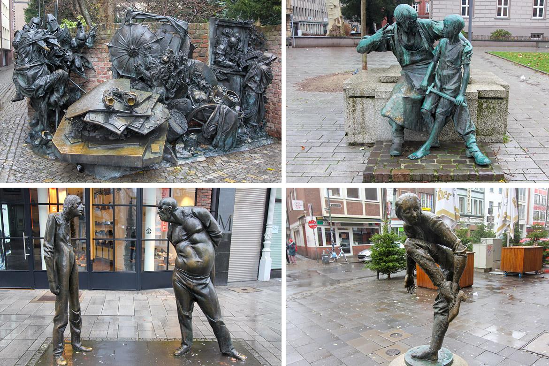 Dusseldorf sculptures rue