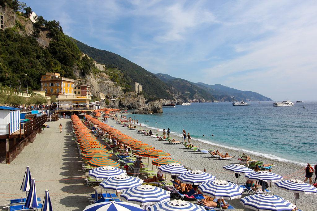 Plage sable Monterosso Cinq Terres
