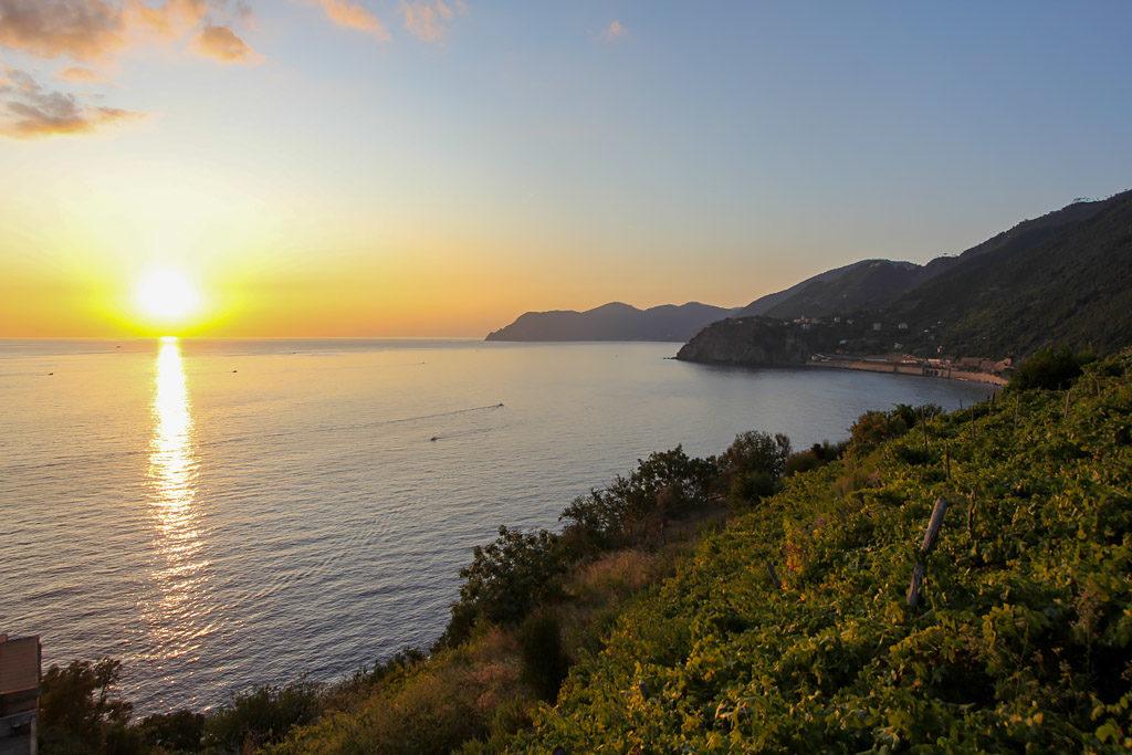 Coucher de soleil Manarola aux Cinq Terres