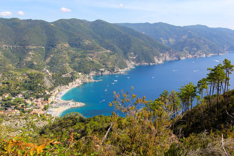 Vue sur la côte lors de la randonnée de Levanto à Monterosso