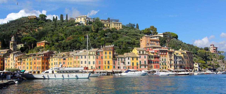 Panorama maisons Portofino Italie