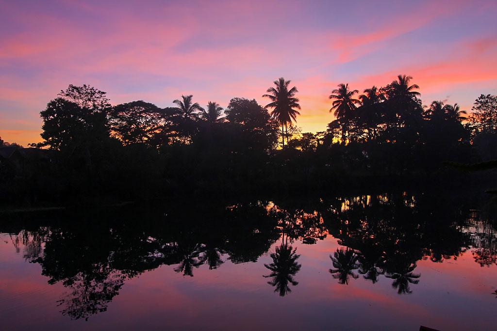 Bohol coucher de soleil rivière Loboc