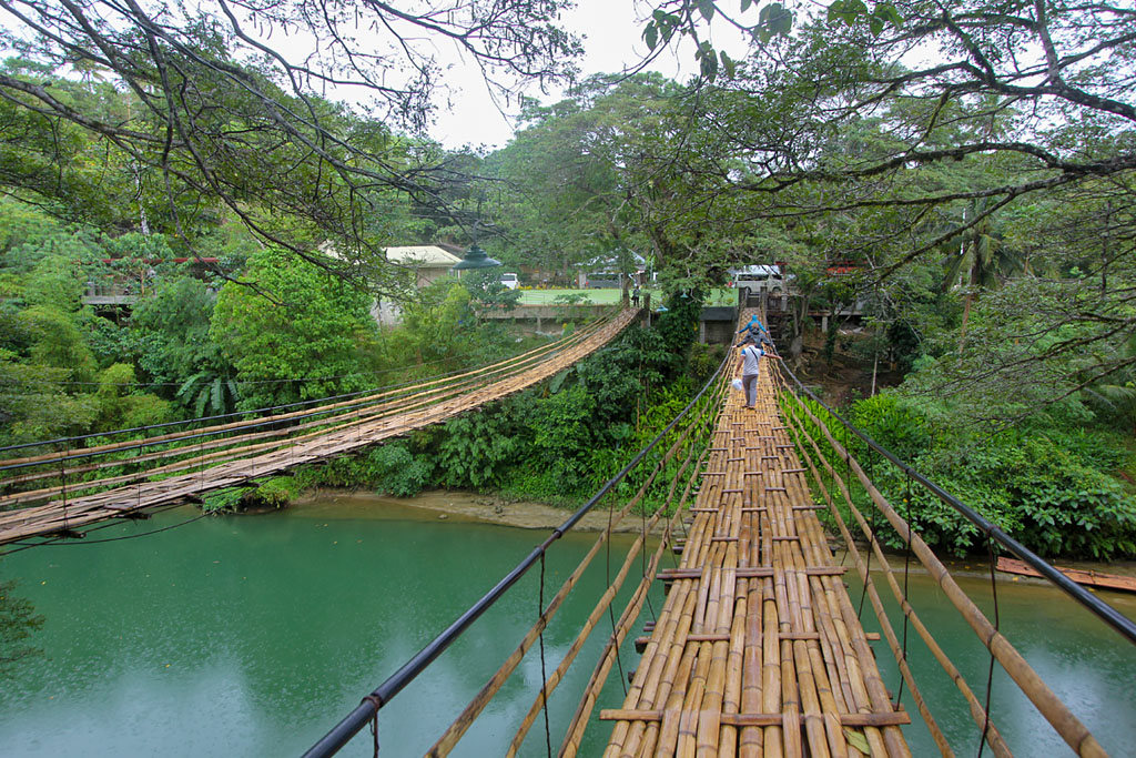 Bohol pont bambou Twin Hanging Bridge