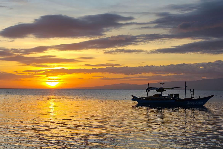 Siquijor plage Paliton beach coucher soleil