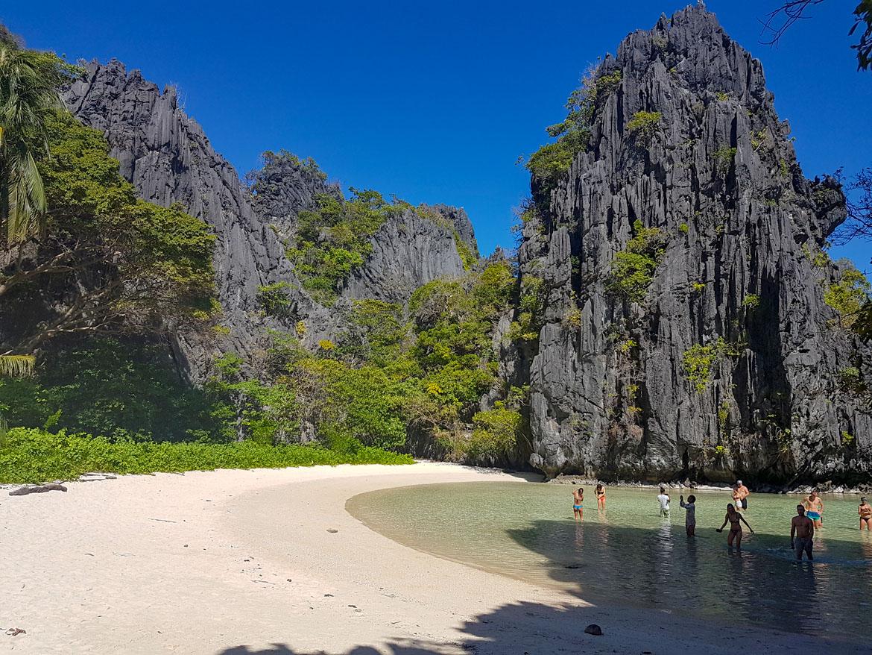 Hidden beach El Nido Philippines