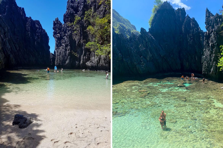 El Nido secret beach Philippines